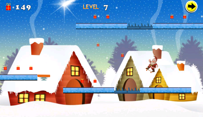 android Christmas Skateboard Screenshot 5