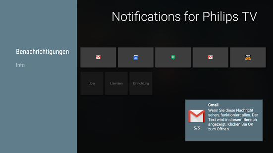 Notifications for Philips TV - screenshot