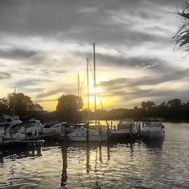 Essex Sunset by Chris Montcalmo - Landscapes Sunsets & Sunrises ( water, colorsplash, sky, sunset, outdoors, scenid, sun )