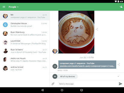Pushbullet - SMS on PC- screenshot thumbnail