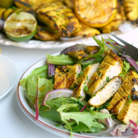 Grilled Turmeric-Lemon and Lime Chicken