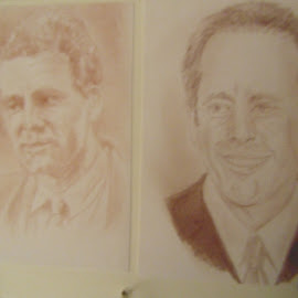 Seinfeld and Kreymer... by Morris Kleyman - Drawing All Drawing ( drawings, colors, portrait..., pencils )