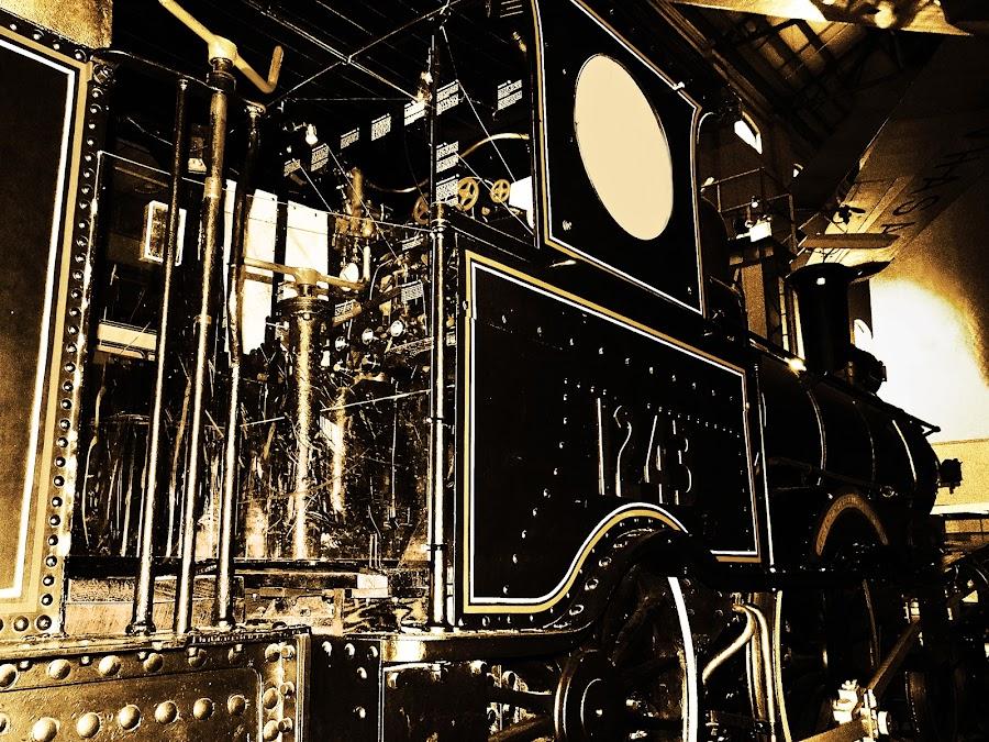 Old Train by Tiahn Anneliese - Transportation Trains