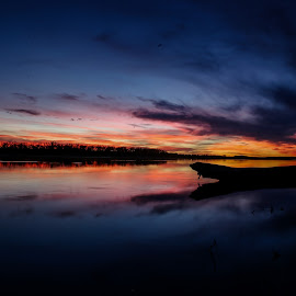 November Sky by Laura Gardner - Novices Only Landscapes ( sunsets & sunscapes, water, landscapes & wildlife, 2015, missouri river )