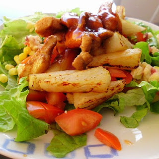 Hawaiian Chicken Salad with Grilled Pineapple