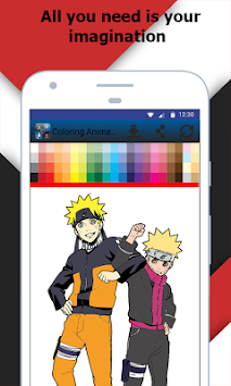 Coloring Book Anime And Manga APK screenshot thumbnail 1