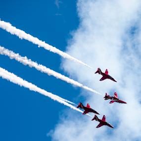 Red Arrows by Tommy  Cochrane - Uncategorized All Uncategorized ( red arrows, uk, display, raf, airshow )