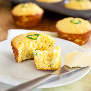 "Low Carb Jalapeno Cheddar ""Corn"" Muffins"
