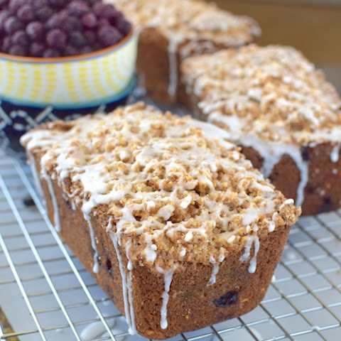 Blueberry Almond Crumble Bread