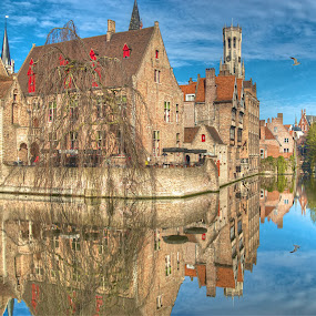 by Peter Kennett - Travel Locations Landmarks ( canals, hdr, bruges, belgium,  )