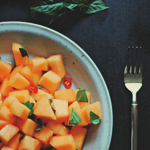 Spicy Cantaloupe Salad