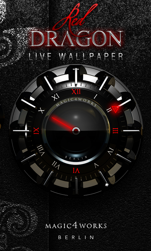 HD Analog Clock Bundle LWP 2 Screenshot 2