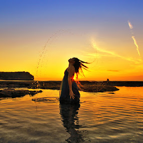 Sunset Splash by Alit  Apriyana - People Portraits of Women