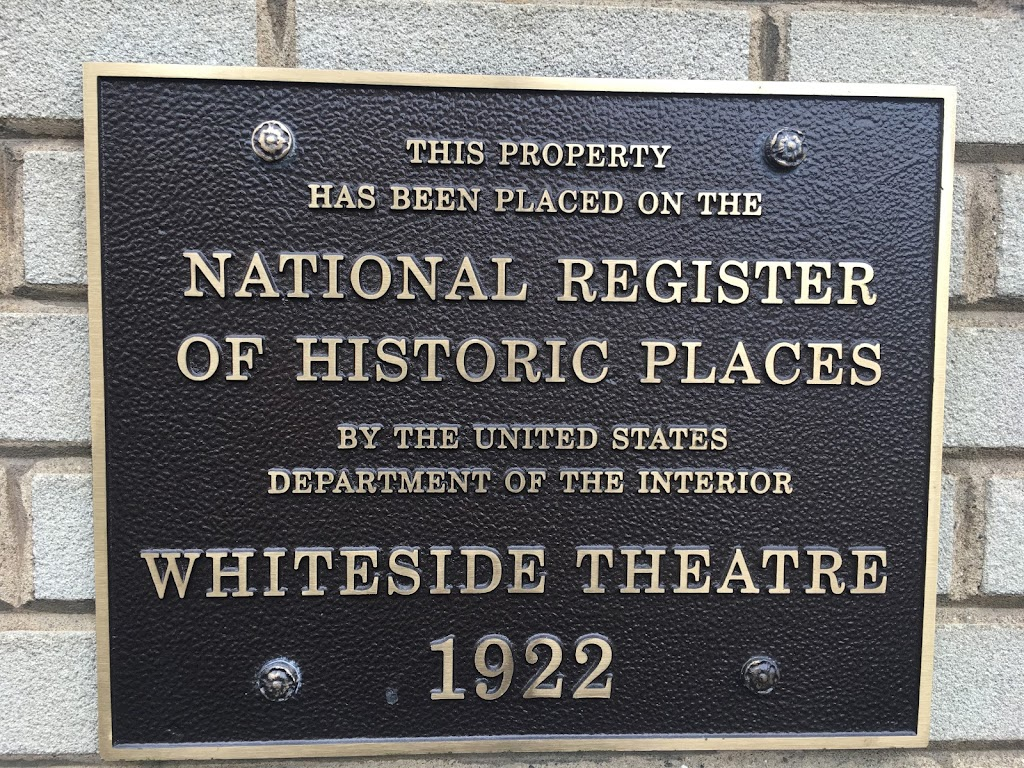This propertyhas been placed on the National Registerof Historic Placesby the United States Department of the InteriorWhiteside Theatre1922