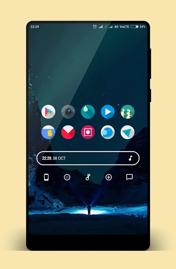 Let It Be O - Pixel 2 Minimalist Icon Pack Screenshot 4