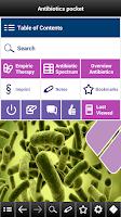 Screenshot of Antibiotics pocket
