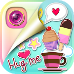 Cute Stickers Photo Editing Icon