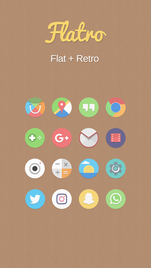Flatro Icon Pack Screenshot 0