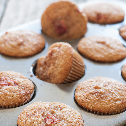 Gluten Free Rhubarb Muffins with Cinnamon Sugar Topping