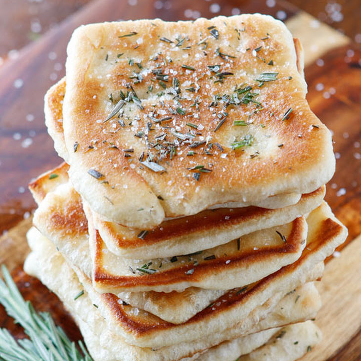 Rosemary Sea Salt Flatbread Recipe | Yummly