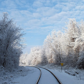 Snow along the Railway by Jeff Thompson - Novices Only Landscapes (  )