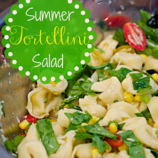 Summer Tortellini Salad with Tomatoes, Spinach & Corn