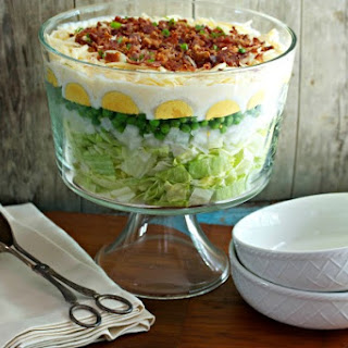 7 Layer Salad Lettuce Peas Bacon Recipes