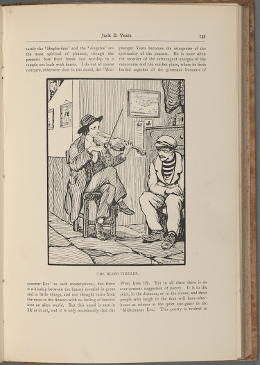 The poet and painter Æ (George Russell) was one of Ireland's key artistic  figures during the period. In this 1908 article, he explains that in Jack Yeats's drawings he has seen 'for the first time something which could be called altogether Gaelic'.