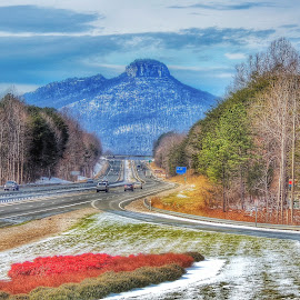 Pilot Mountain, North Carolina by Robert Rondelli III - City,  Street & Park  Vistas