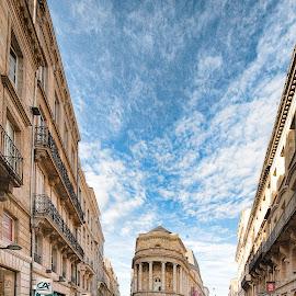Bordeaux on the first warm day by Annette Flottwell - City,  Street & Park  Historic Districts ( cité, bordeaux, café, city )