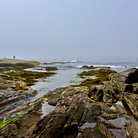 Lobster boat fog by Joe Fazio - Landscapes Weather ( maine, lobster, pemaquid, boat, fog,  )