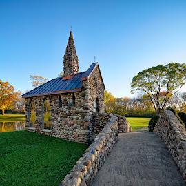 St John Garden Chapel by John Williams - Buildings & Architecture Other Exteriors ( st. john-baptist catholic church, catholic, exterior architecture, chapel, garden )