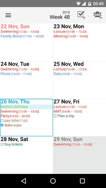 Day by Day Organizer screenshots
