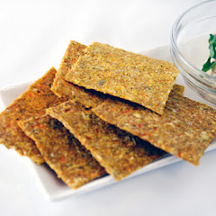 Sprouted Buckwheat and Flax Crackers with Dill Nut Cheese