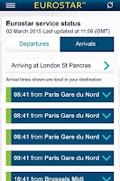 Screenshot of Eurostar Trains