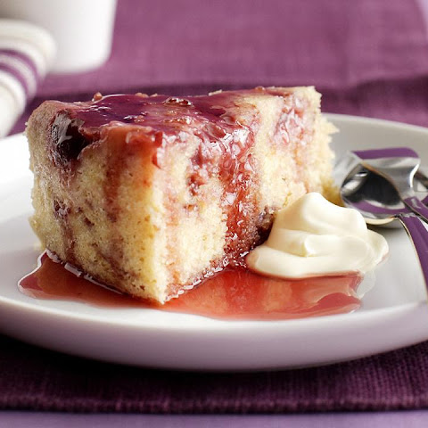 Sour Cream Cake with Plums and Spiced Syrup