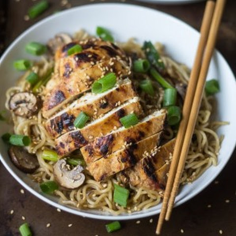 Garlic Ginger Chicken with Sesame Noodles