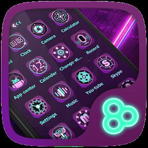 Cover art Fluorescent Go Launcher Theme