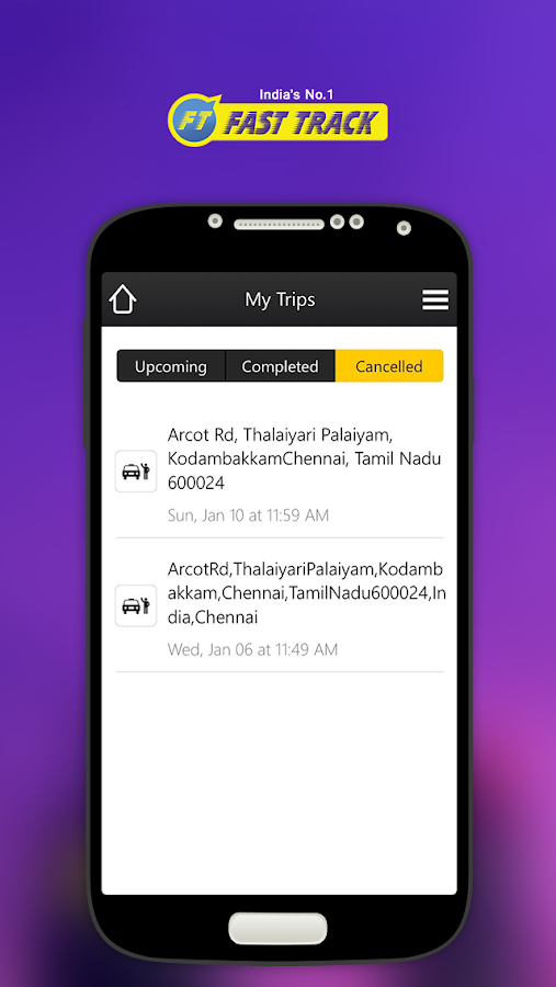Fasttrack Taxi App Screenshot 4