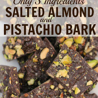 Salted Almond and Pistachio Bark