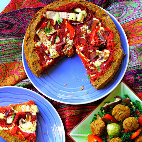 Deep Dish Falafel Pizza [Vegan]