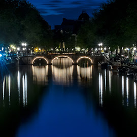 Amsterdam by Henry Chu - City,  Street & Park  Night