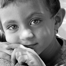 Portrait by Asif Bora - Black & White Portraits & People