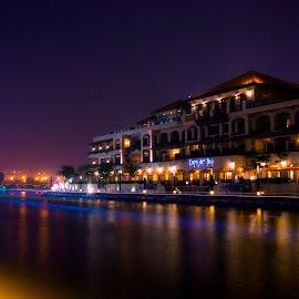 The Night City by Boon Keat - City,  Street & Park  Night ( lumixgx7, night photography, nightcity, malacca river, melaka, malaysia, bkgraphy, nightscape,  )
