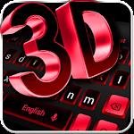 3D Black Red Keyboard Theme Icon