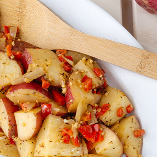 Crockpot Italian Potatoes- Easy Dinner!