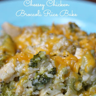 Cheesey Chicken Broccoli Rice Bake