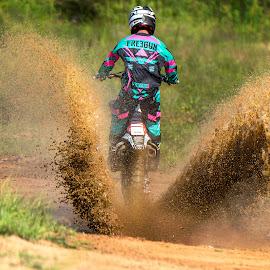 Splash by Josh Rud - Sports & Fitness Motorsports ( muddy, honda, mud, splash, motocross, off road, dirt bike )