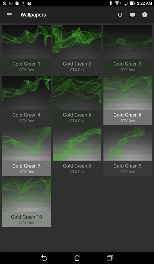 Gold Green Icon Pack Screenshot 3