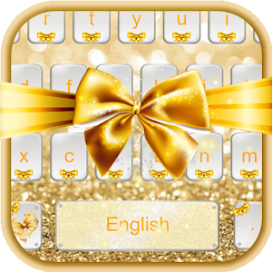 Download Gold Bow Keyboard Theme For PC Windows and Mac